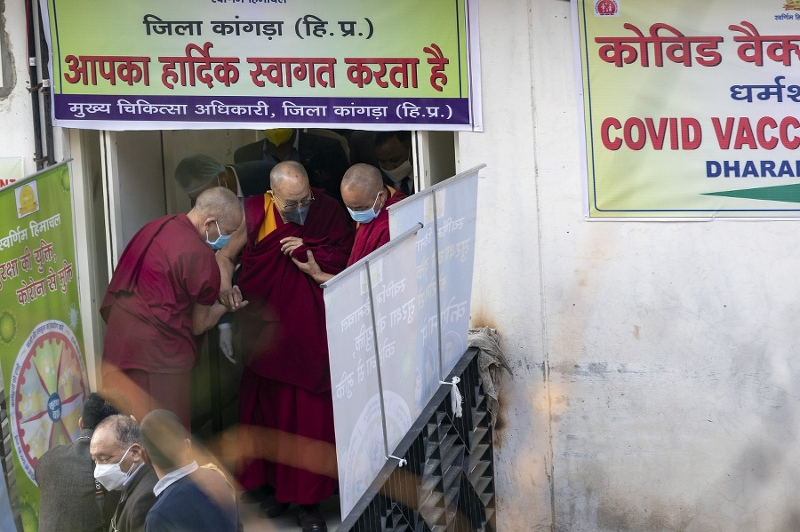 Dalajláma pri príchode na