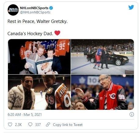 Zomrel Watler Gretzky, otec
