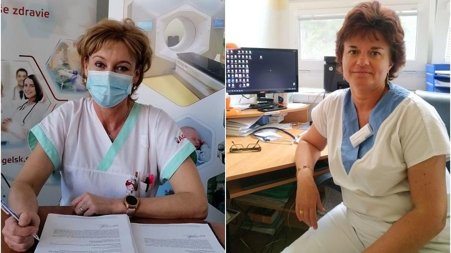Zdravotníčky Monika (vľavo) a