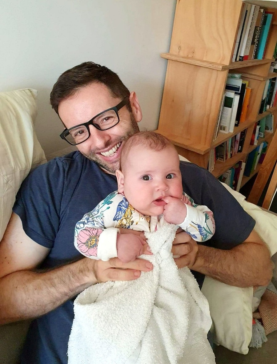 Adam s dcérkou.