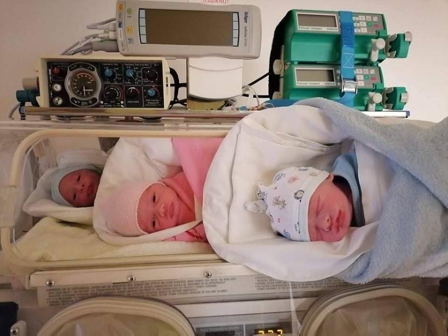 Trojčatá sa narodili v