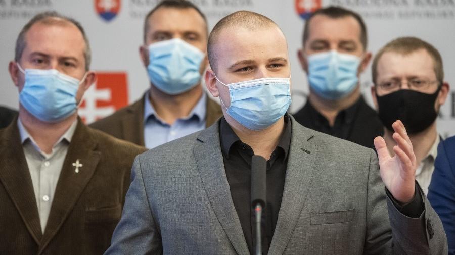 Zľava Marian Kotleba, Miroslav