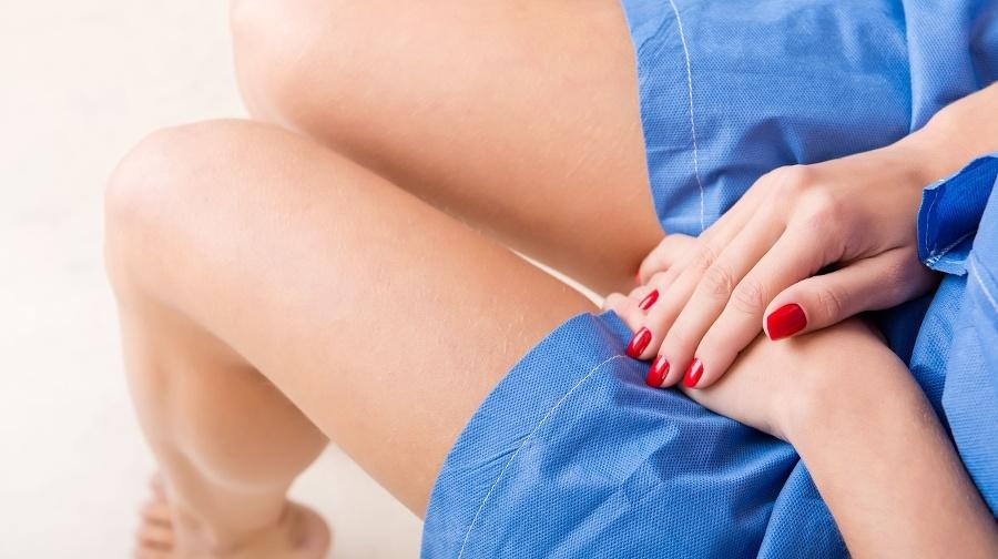 Woman on a gynecology