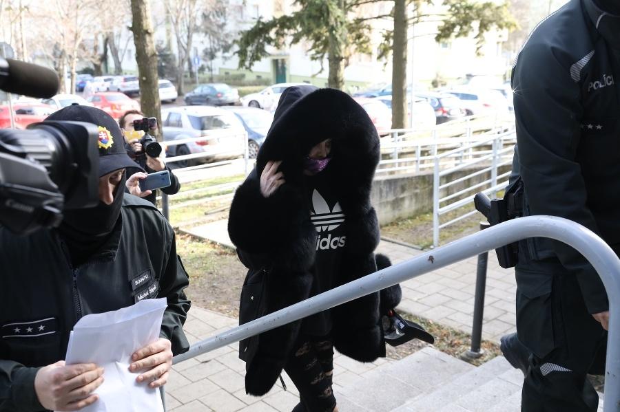 Fabušová prichádza na súd.