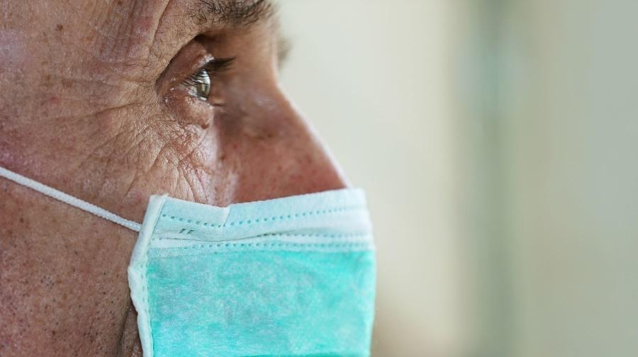 face of elderly man