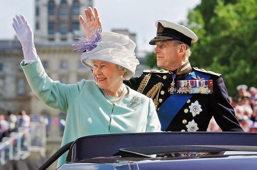 Alžbeta s manželom Filipom: