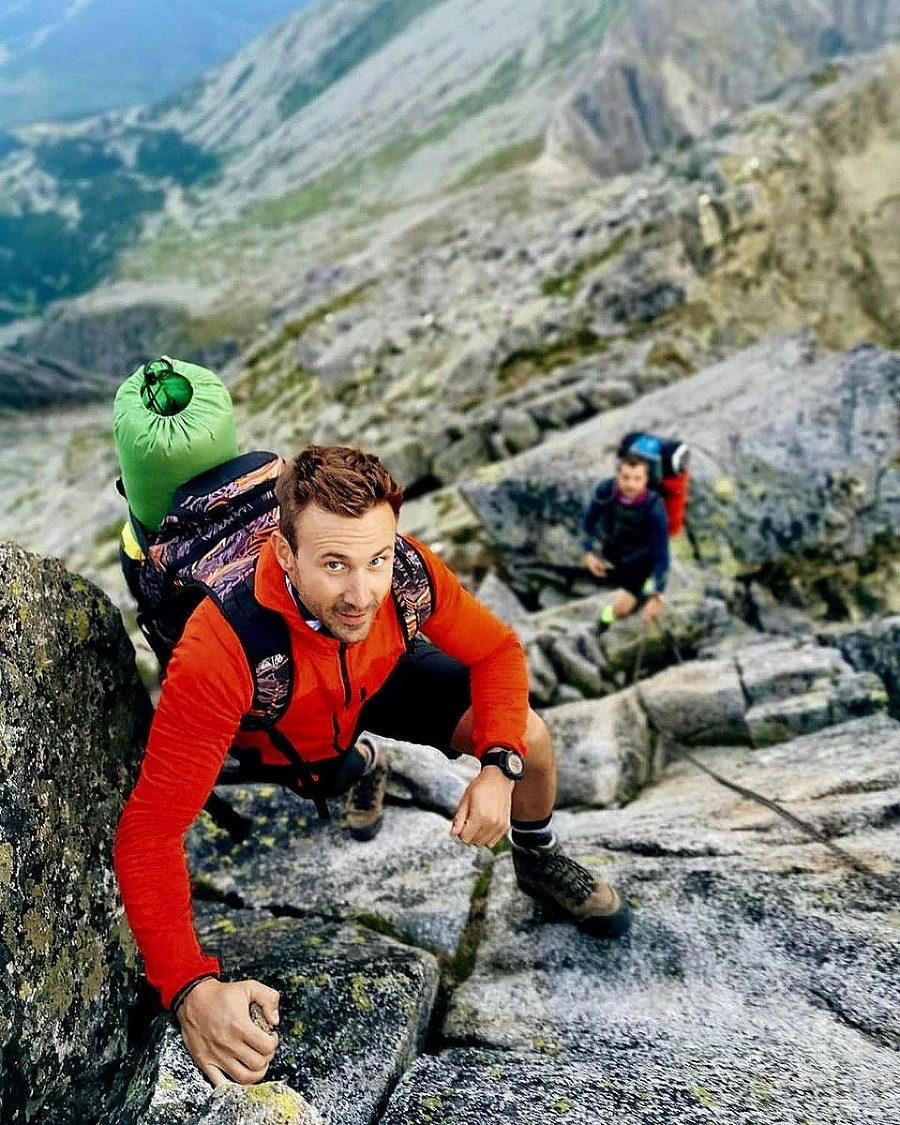 Marek Fašiang miluje hory.