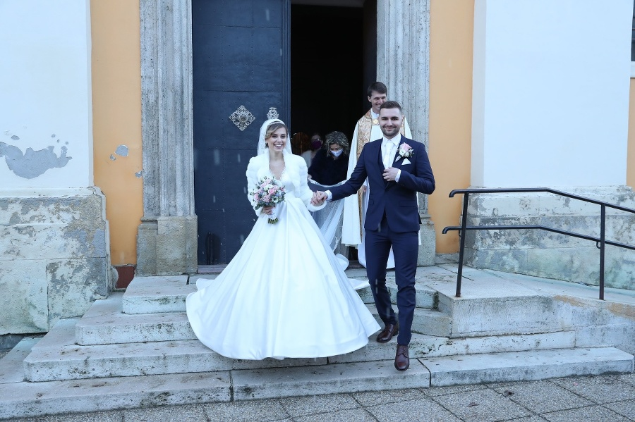 Dominika s manželom.