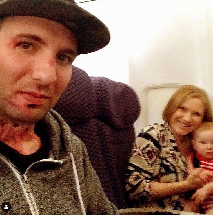 Matt so svojou manželkou