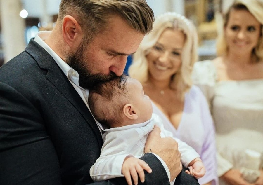 Michal so synčekom Jakubkom,