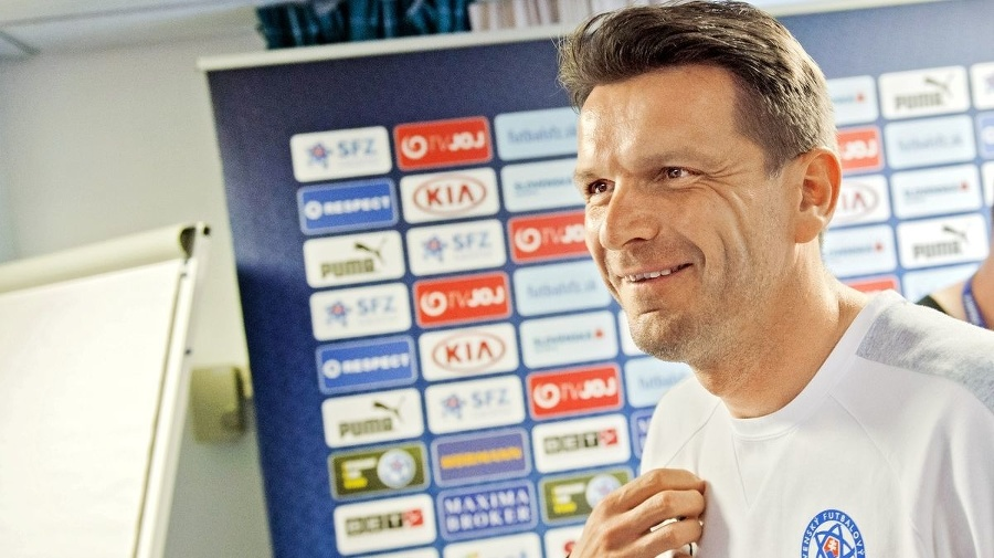 Tréner Slovenska Štefan Tarkovič.