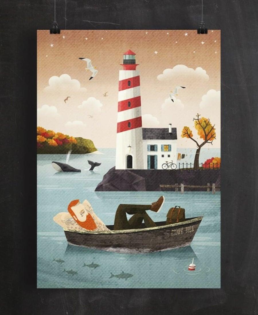 Seaside spirit: Kreslený svet