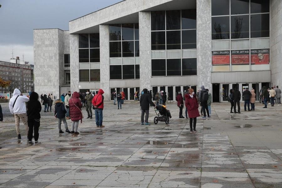 Testovanie v Bratislave.