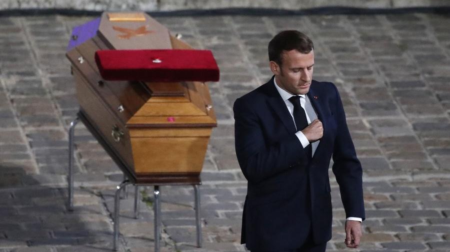 Na snímke francúzsky prezident