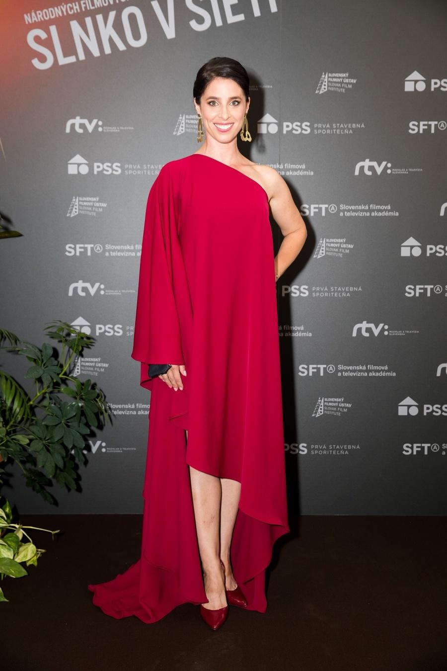Herečka Zuzana Porubjaková.