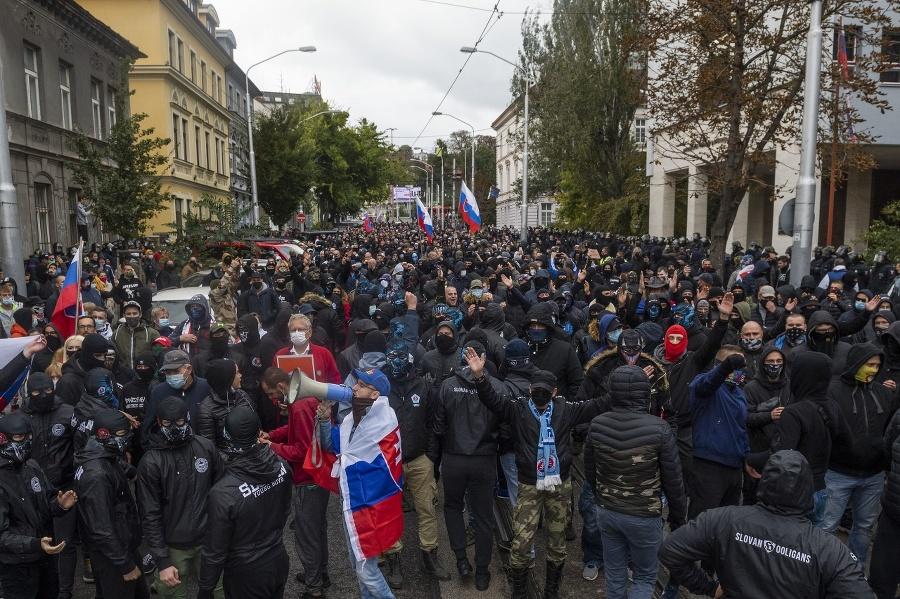 Protest ultras v Bratislave