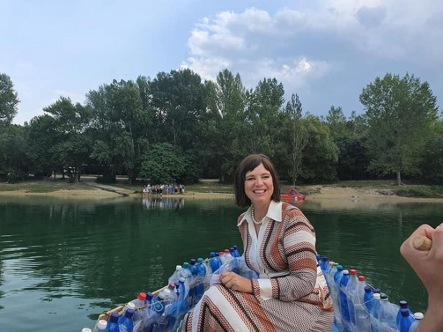 Veronika Remišová si plavbu