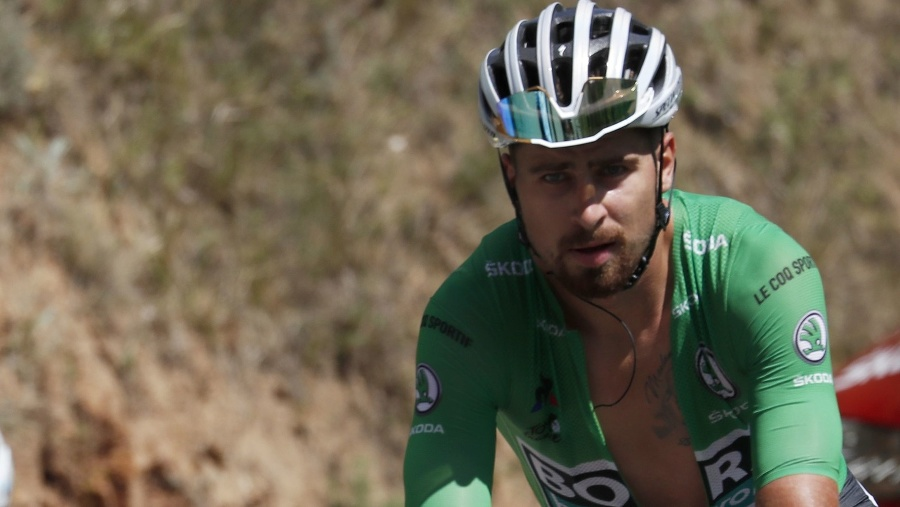 Slovenský cyklista v zelenom