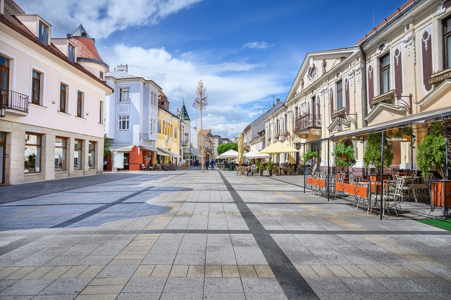 Pedestrian zone with historical