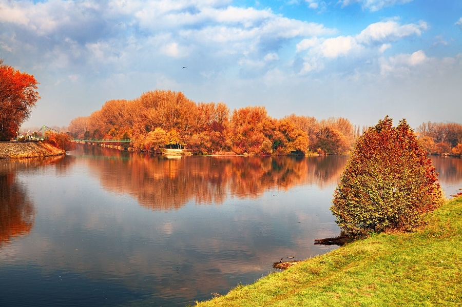 Autumn view of Piestany,