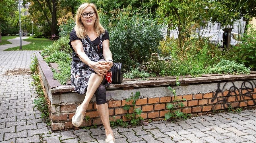 Herečka Marta Sládečková.