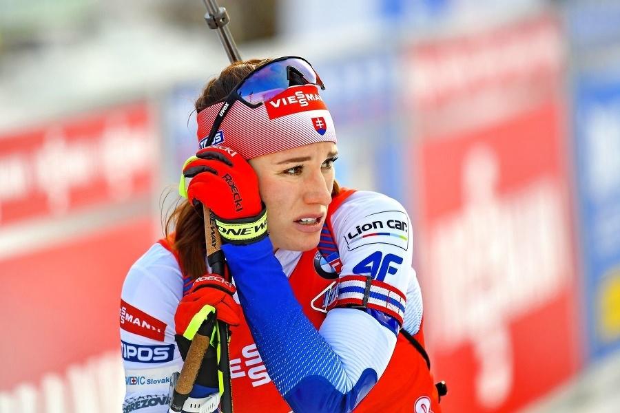 Paulína Fialková počas pretekov.