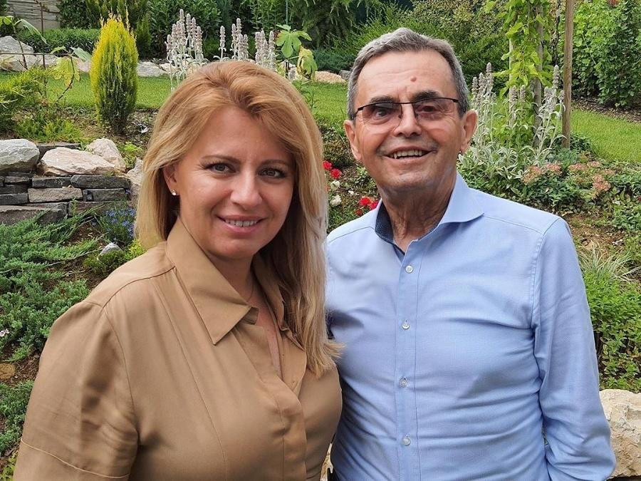 Prezidentka s otcom Štefanom.