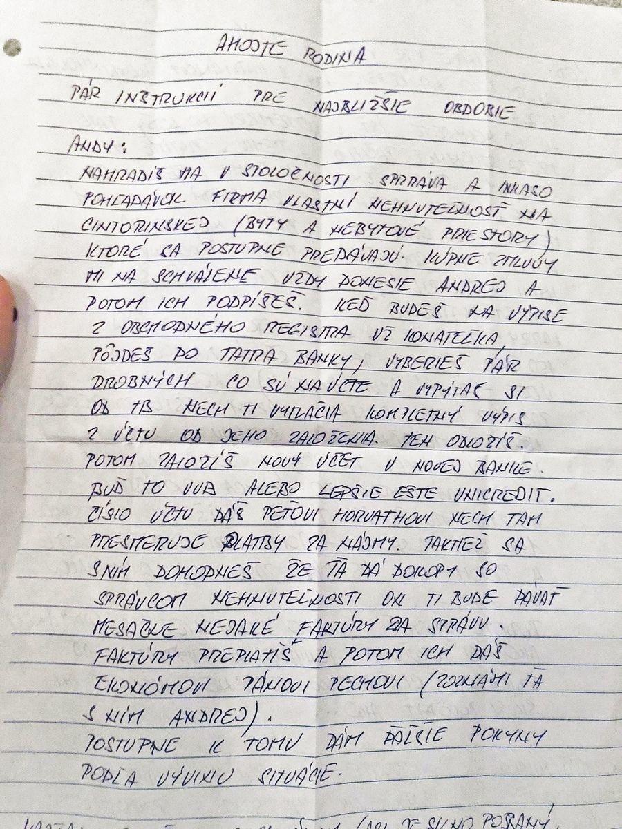 Tajný list z väzby