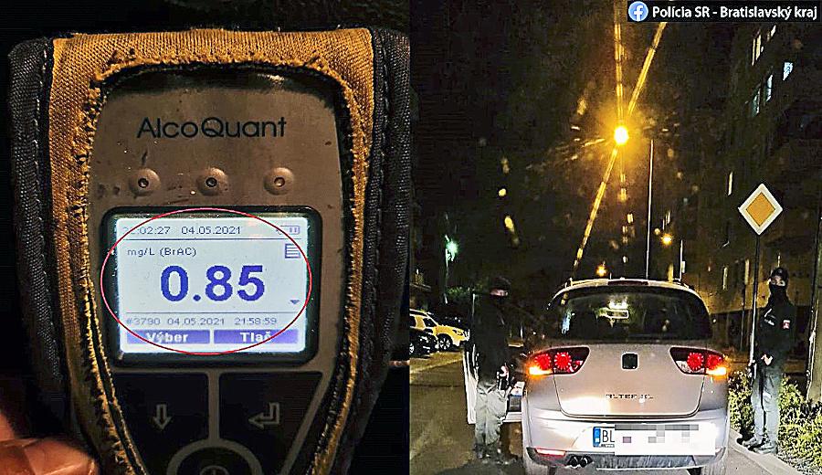 Bratislava - Trnávka, 4.5.2021 o 21.55 hod.: Nora zastavila hliadka pri jeho bydlisku.
