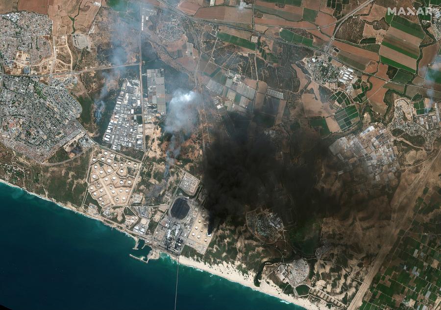 Na satelitnej snímke z