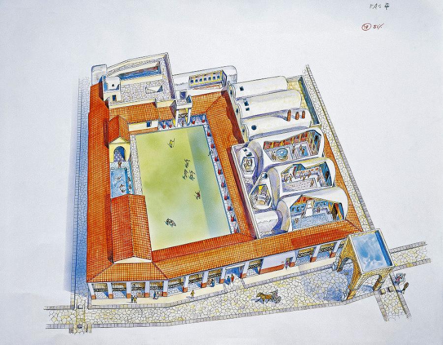 Kúpele boli centrom spoločenského života celej ríše.