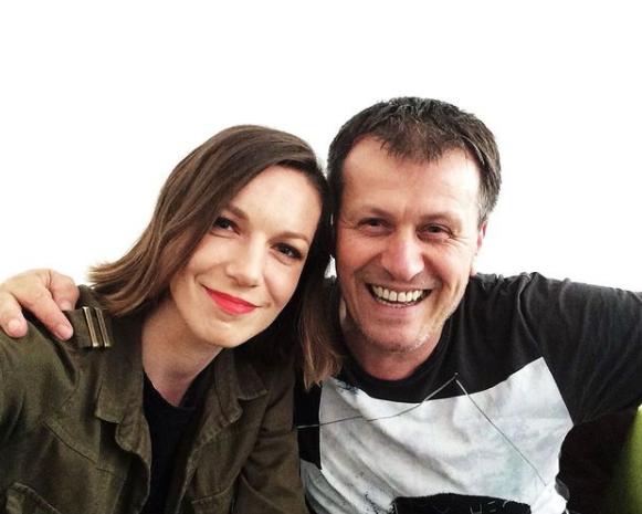 Moderátor Julo Viršík a speváčka Zuzana Smatanová