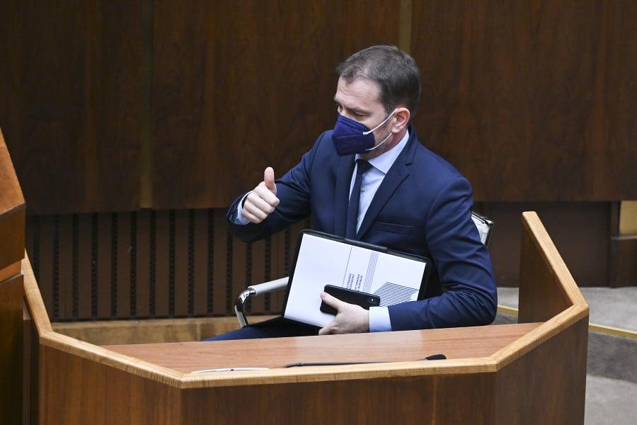 Na snímke minister financií