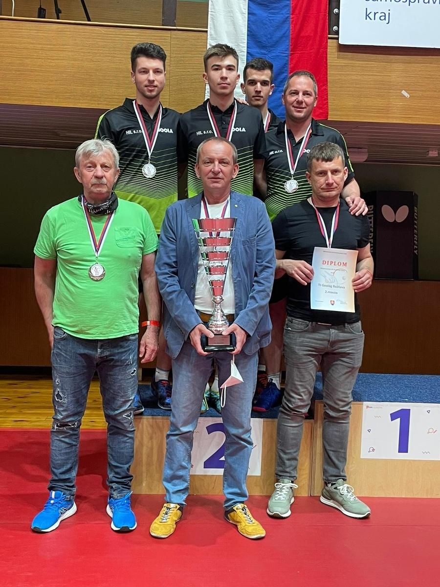 Stolní tenisti z Rožňavy získali striebro na majstrovstvách Slovenska.