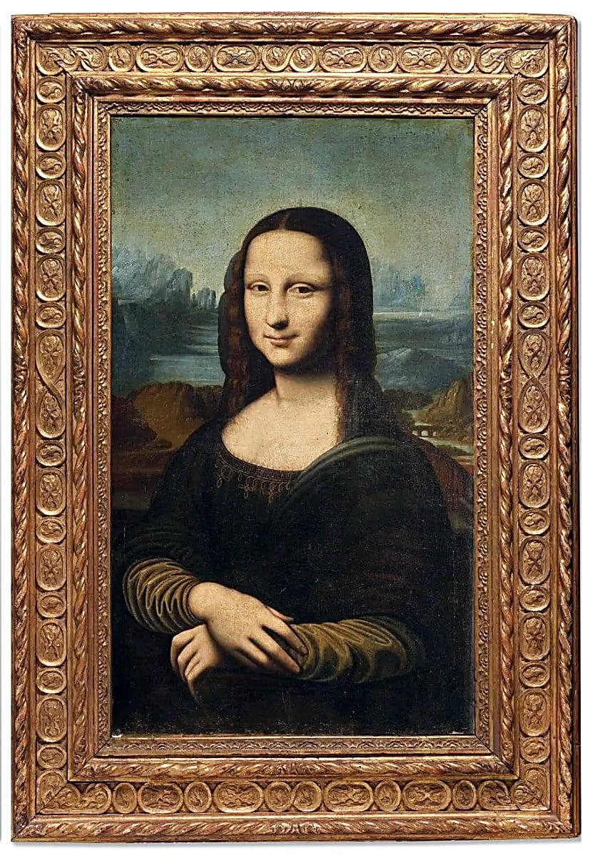 Túto kópiu namaľoval Da Vinciho žiak v 17. storočí. (300 000 €)