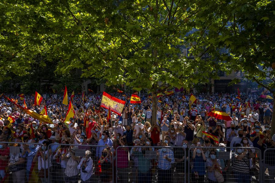 V Španielsku ľudia protestovali