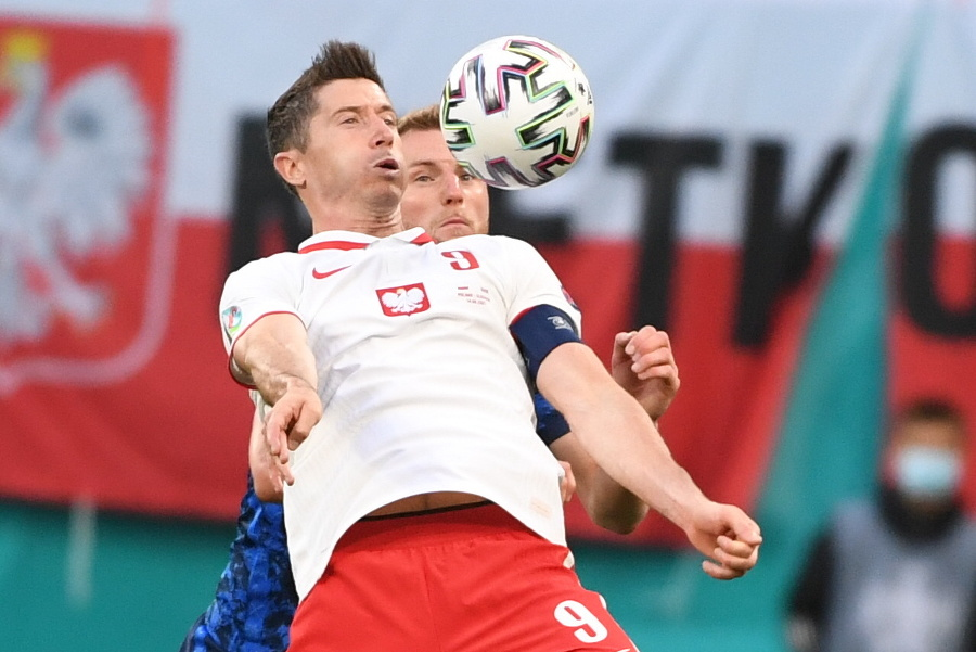 Poľský útočník Robert Lewandowski