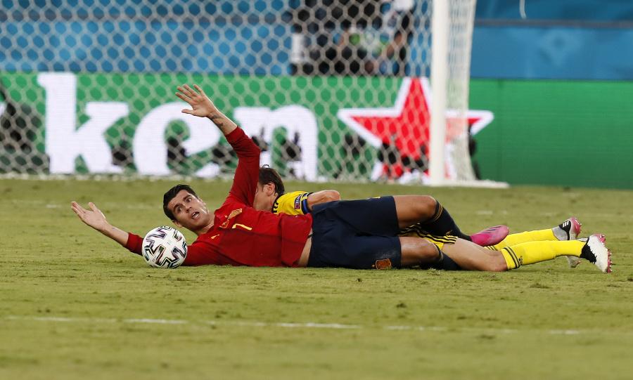Momentka zo zápasu Španielsko