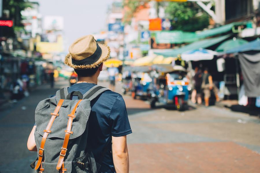 Turista v Bangkoku.