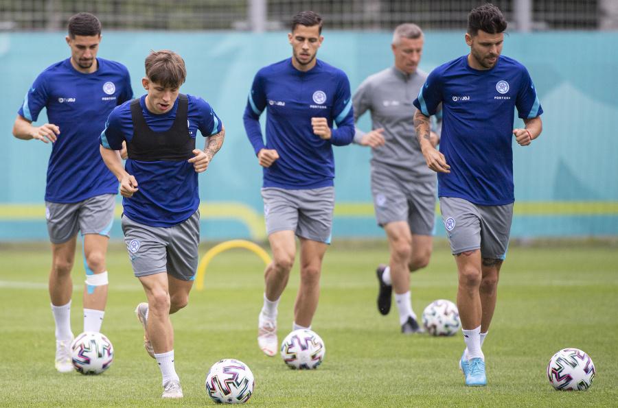 Slovenský tím na tréningu