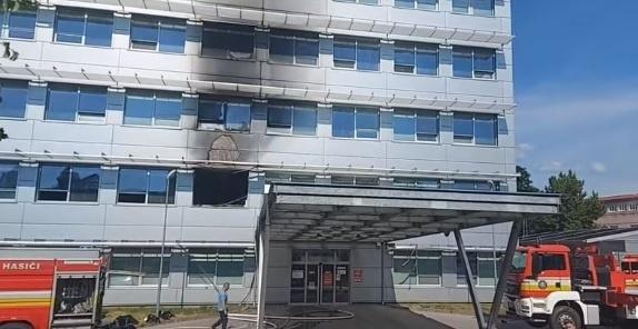 Požiar v košickej nemocnici