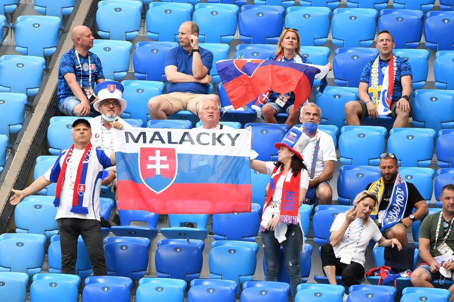 Fanúšikovia Slovenska pred zápasom