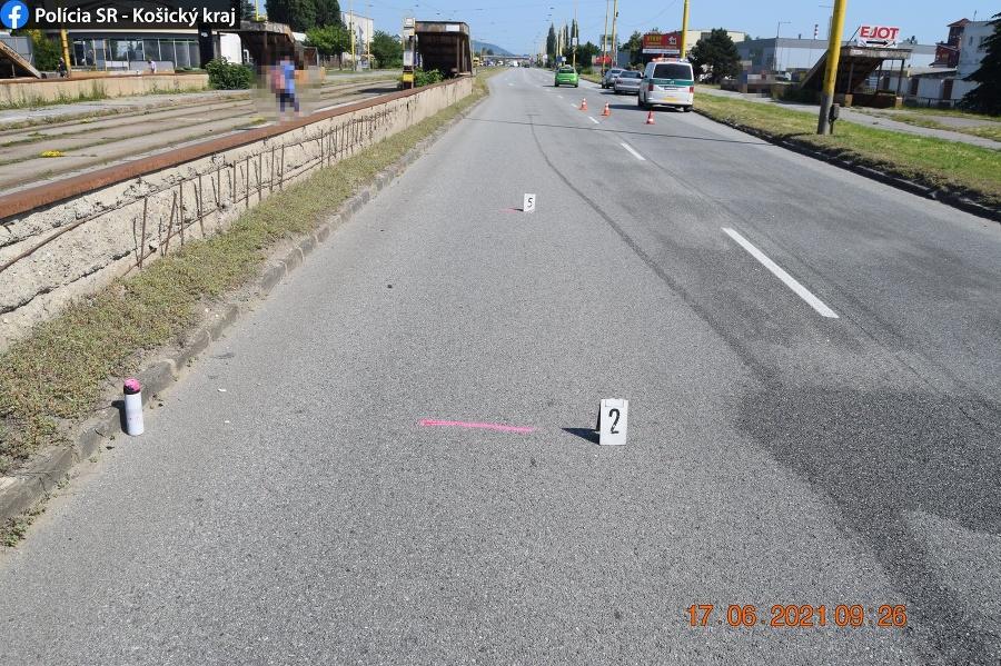 Dopravná nehoda v Košiciach: