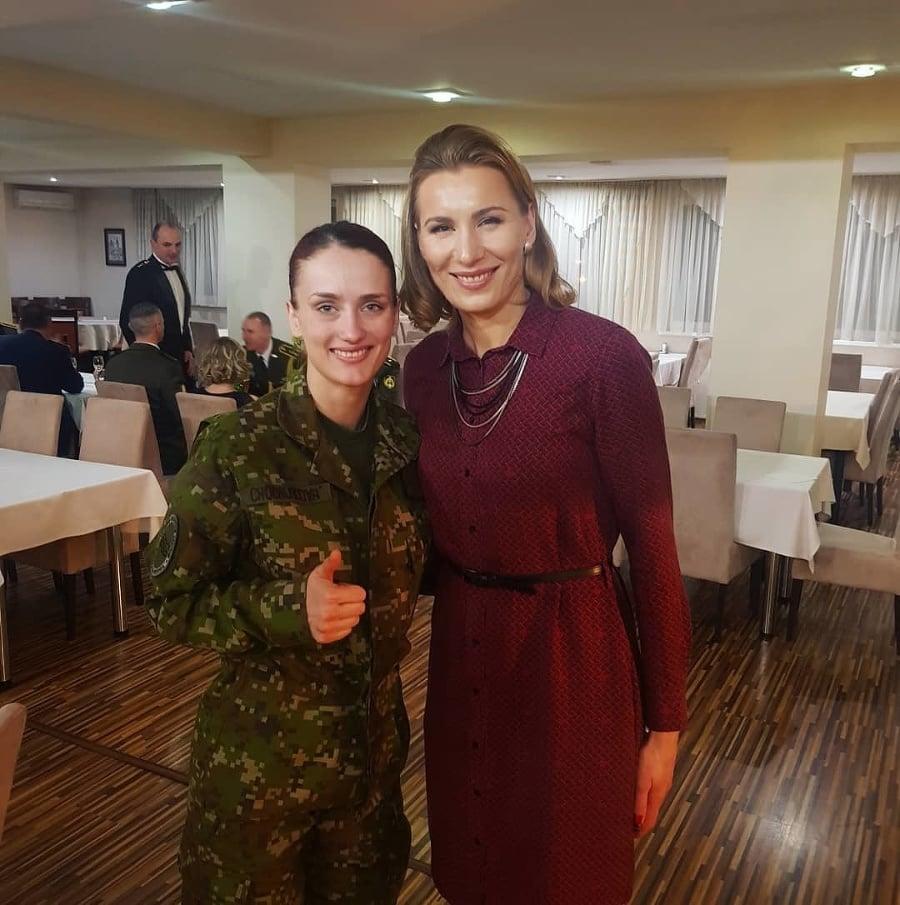 Monika Chochlíková ako vojačka