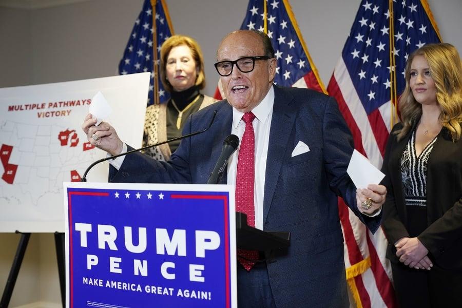 Trumpov právnik Rudy Giuliani.