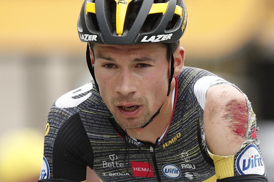 Odretý slovinský cyklista Primož