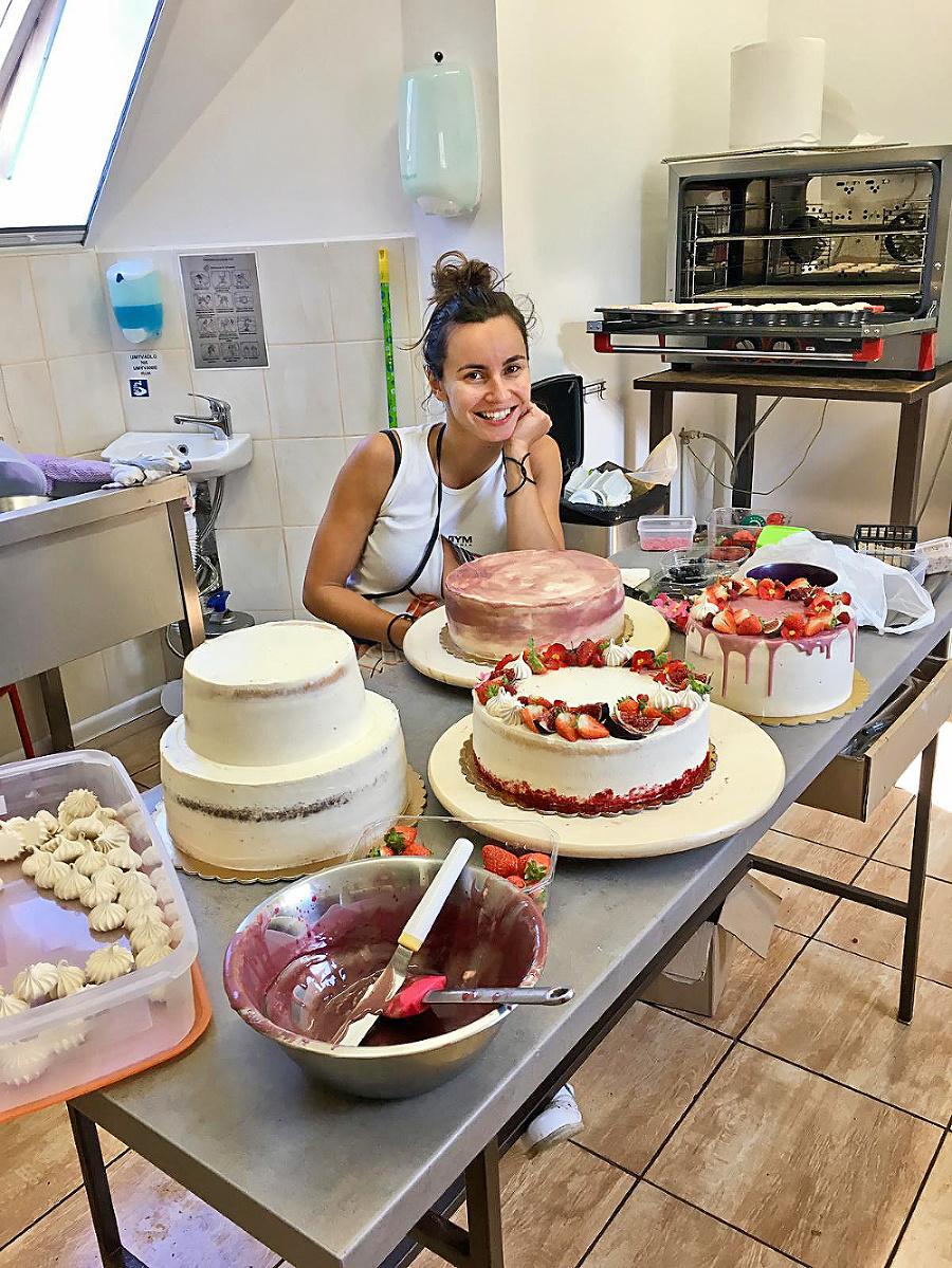 V kráľovstve sladkostí: Andrea vypeká tie najchutnejšie torty.