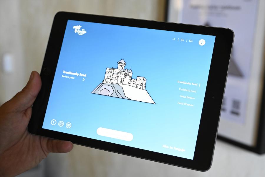 Tablet s nainštalovanou aplikáciou.