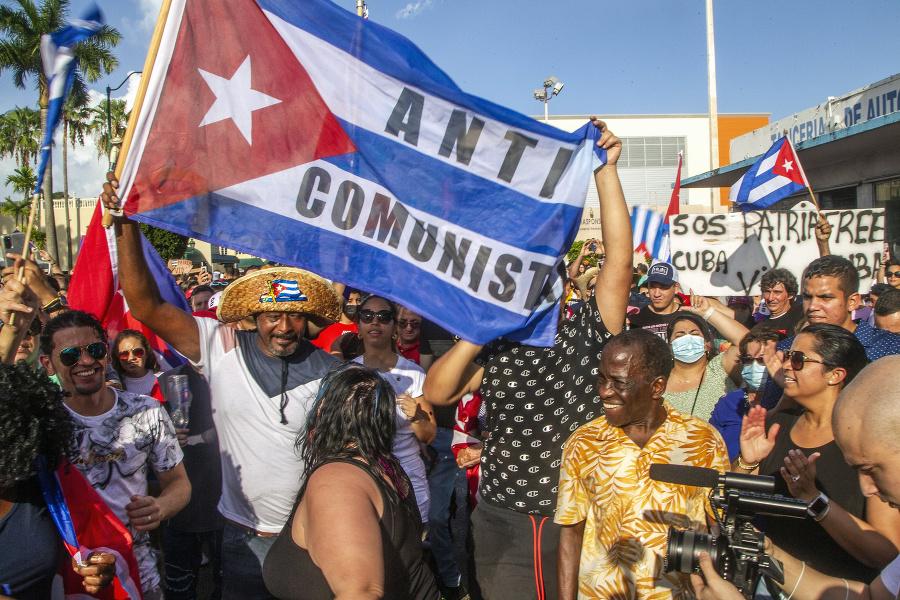 Nespokojní Kubánci vyšli do