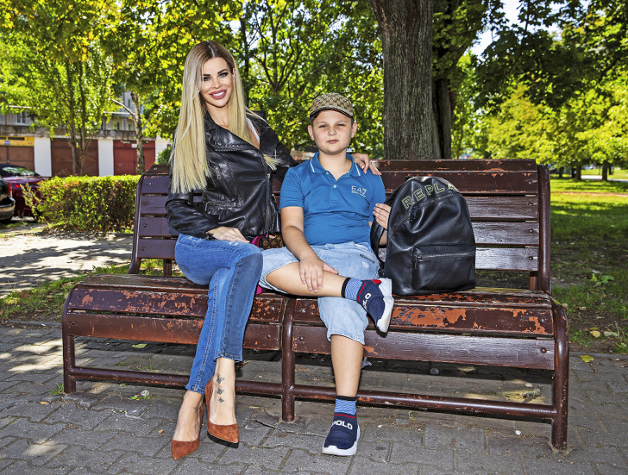 Modelka je mamou synčeka Alexandra.